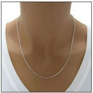Jewelry - Sterling silver 17 inch snake chain necklace.  NWT